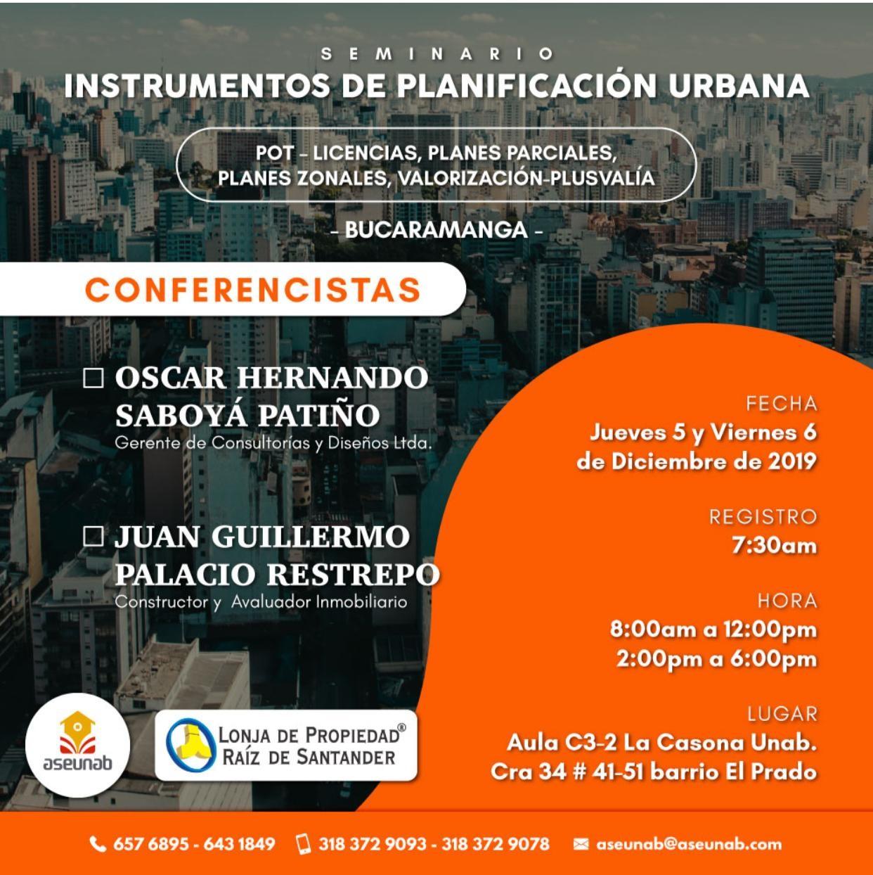 Seminario: Instrumentos de Planificación Urbana
